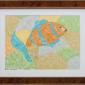 "Swim Fish  11""x15"" Actual Picture Size 13,200$ Original, Prints 3,500$"