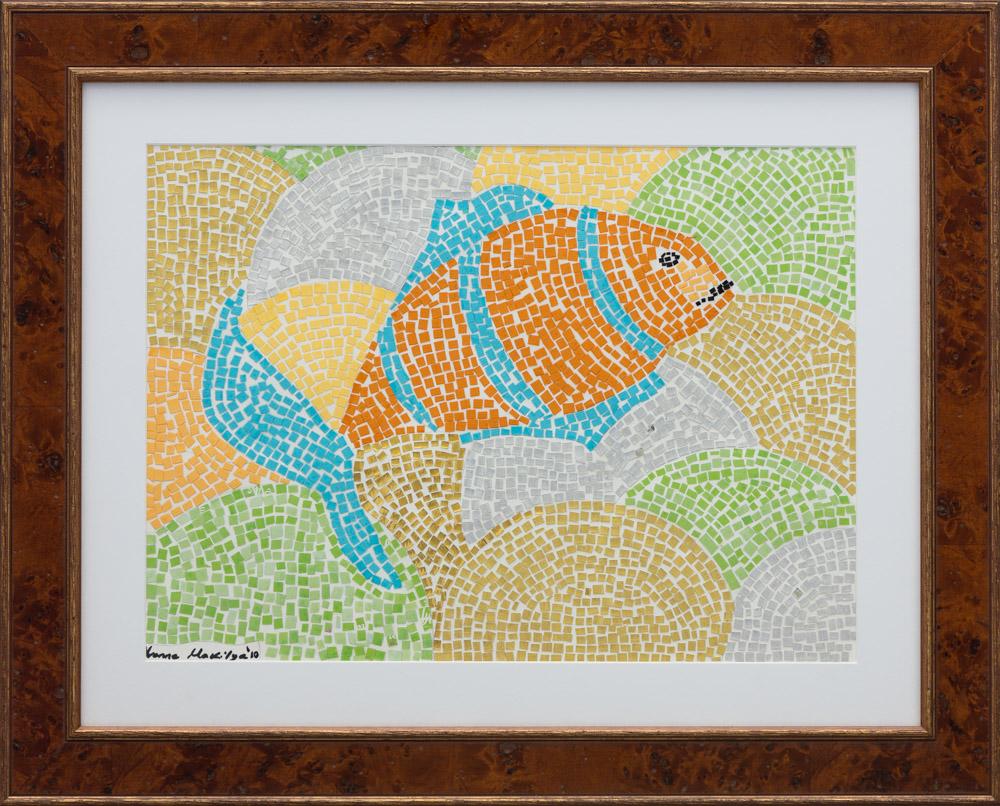 "Swim Fish  11""x15"" Actual Picture Size 13,200$ Original, Prints 3,500$"