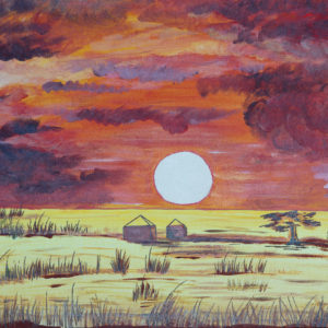 "African Sun 11""x14"" Original Composition 10,000$/ Print 3,750$"