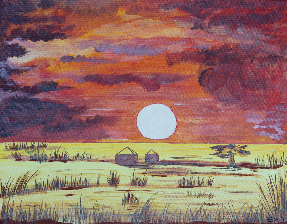 "African Sun 11""x14"" Original Composition 10,000$/ Print 3,750$"