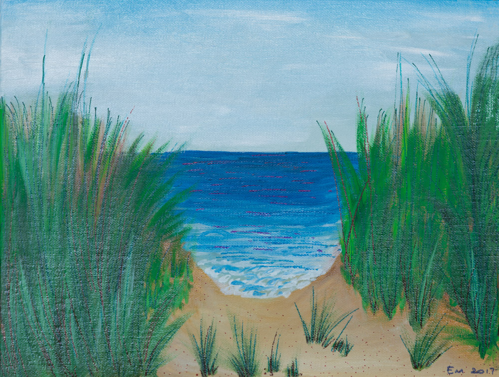 "Sea View 11""x14"" Original 1450$/ Print 480$"