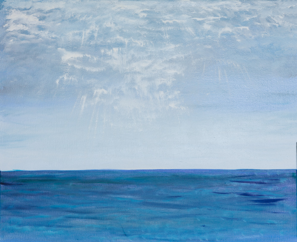 """Heaven and Sky (oil painting) 18""""x23""""Original Composition 64,500$/ Print 28,300$"""