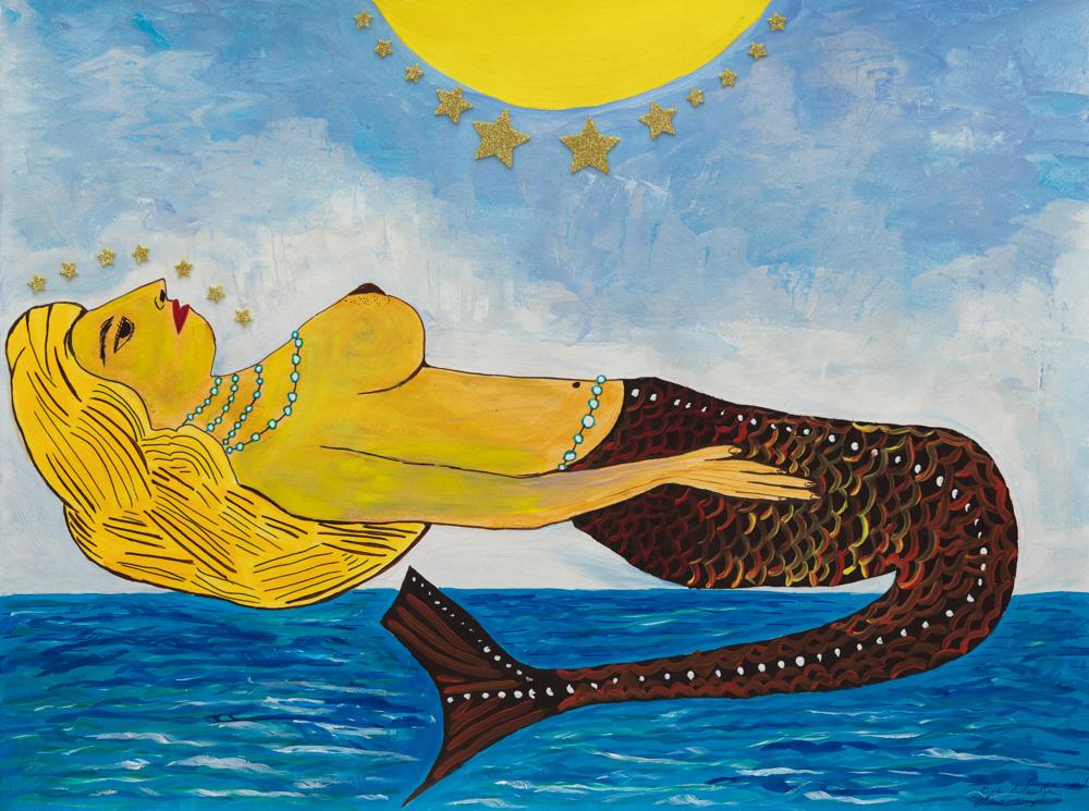 "Abundance Mermaid 18""X24"" Original Composition 120,000$/ Print 36,800$"
