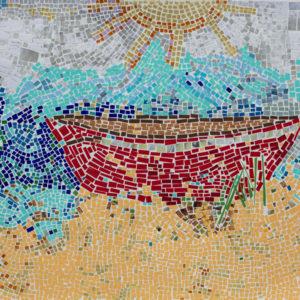 """Big World Big Boat 18""""X24"""" Original Composition 124,000$/ Print 23,500$"""