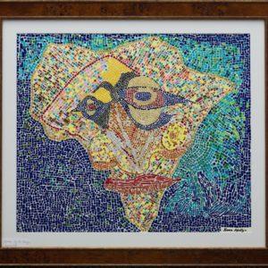 "One World Africa 18""X24"" Original  Composition 150,000$/ Print 32,500$"