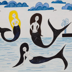 Cape Cod Mermaid Party 18'X24 Original Composition 42,000$/ Print 16,200$