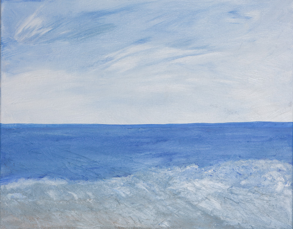 Ocean Blue (Acrylic Painting) Original 6500$ Prints 2300$
