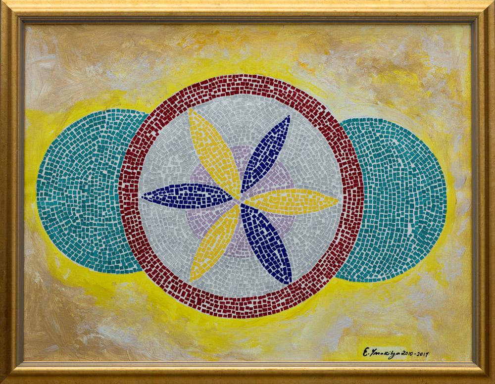 "Geometric Time 18""X24"" Original Composition 380,000$/ Print 128,000$"