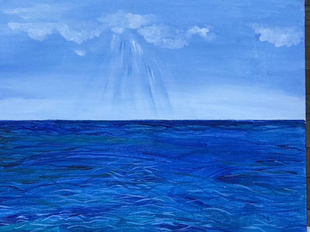 "Cape Cod Sea and Sky 11""x14"" Original Composition 13,500$/ Prints 4,780$"
