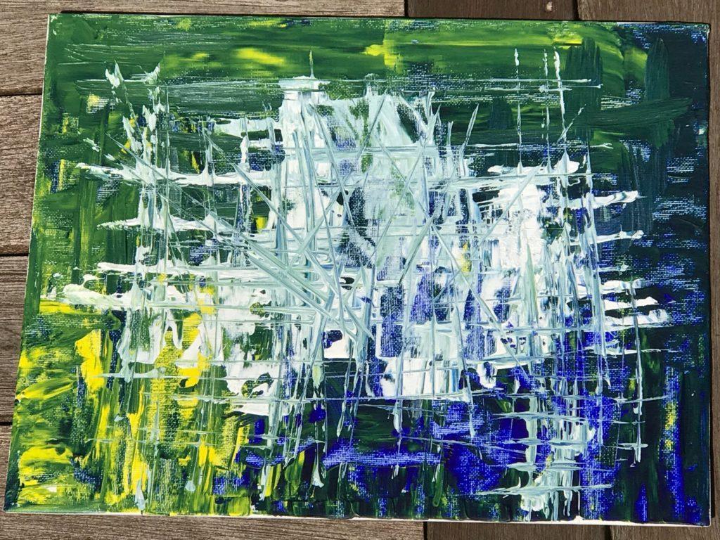 "Windows in Paint 11""x14"" Original Composition 8000$/ Print 2350$"