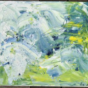 "Abstract Sea Life 11""x14"" Original Composition 16,350$/ Print 4,250$"
