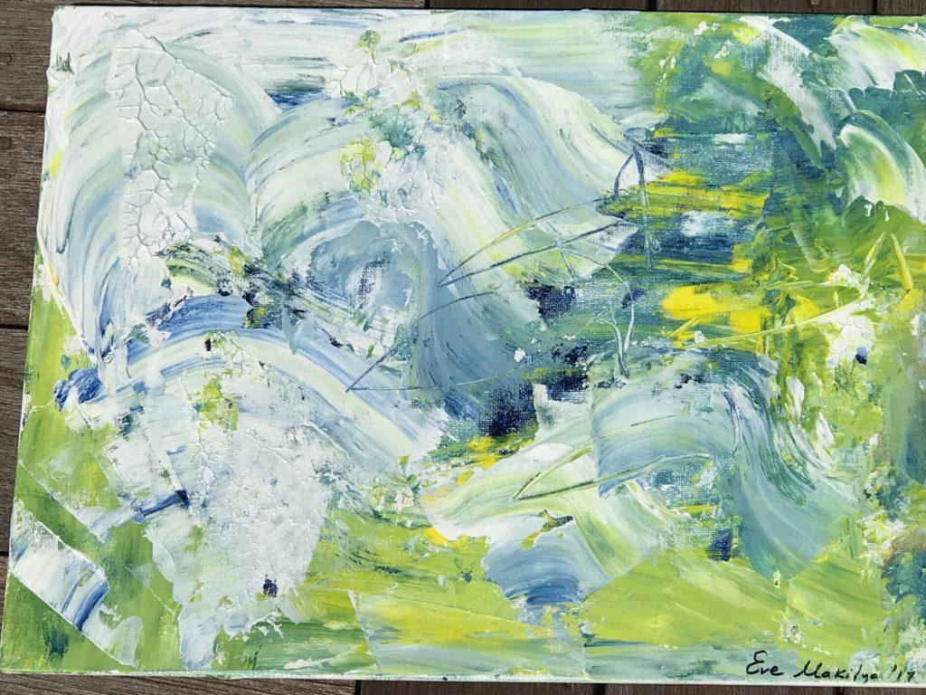"Abstract Sea Life 11""x14"" Original Composition 16,350$ Print 4,250$"